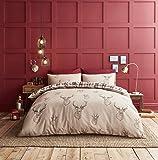Catherine Lansfield Parure de lit Double Motif cerfs Multicolore, Coton, multicolore, King