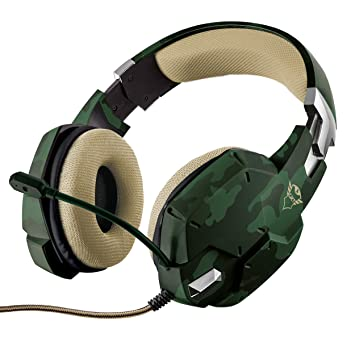 Trust Gaming GXT 322C - Auriculares Gaming Stereo para PC, Color Verde Camuflaje: Trust: Amazon.es: Informática