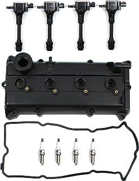 2500cc DOHC L4 16V,QR25DE Bolts Ignition Coil /& Spark Plugs Compatible with 02-06 NISSAN 2.5L NEW Engine Valve Cover w//Gasket