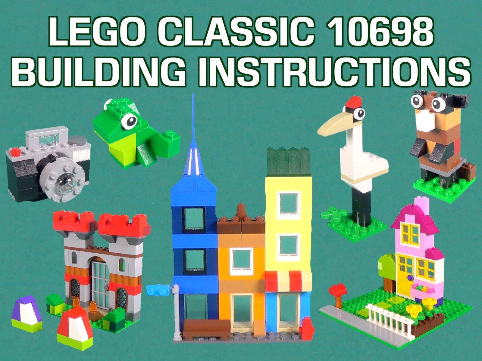 Amazon com: Watch LEGO Classic 10698 Building Instructions