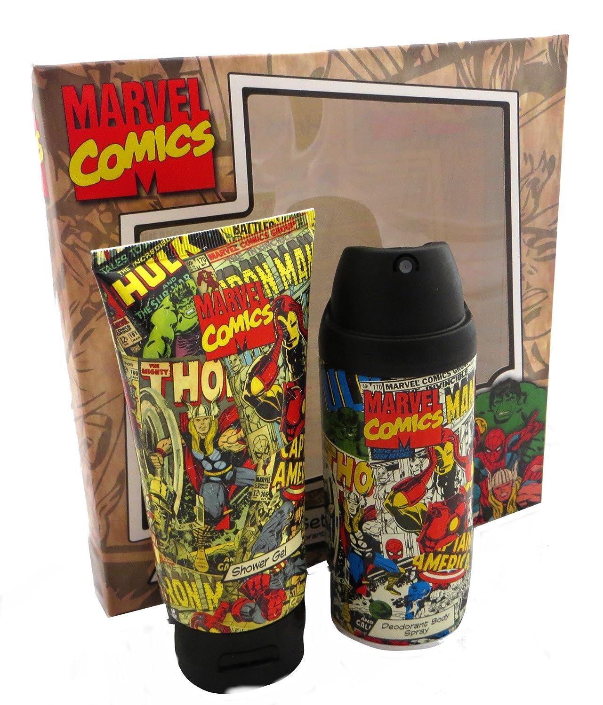 Marvel Comics Hero Duo, Shower Gel, Deodorant Gift Set: Amazon.co.uk: Beauty