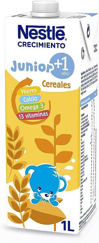 NESTLÉ JUNIOR 1+ Cereales - Leche para niños a partir de 1 año - 1L