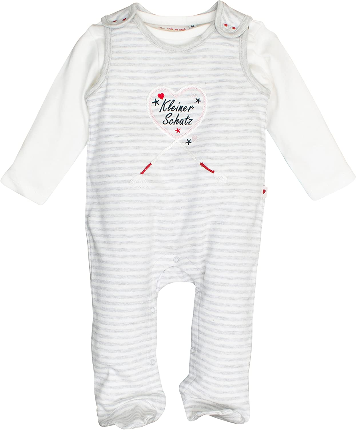 SALT AND PEPPER Baby-M/ädchen Nb Playsuit Schatz Stripe Strampler