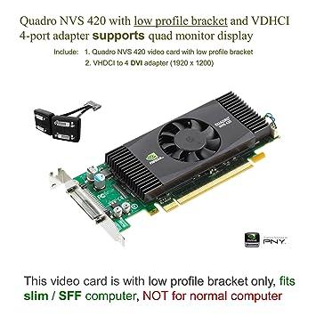 Amazon.com: PNY Quadro NVS 420 x 16 PCI-Express con VHDCI to ...
