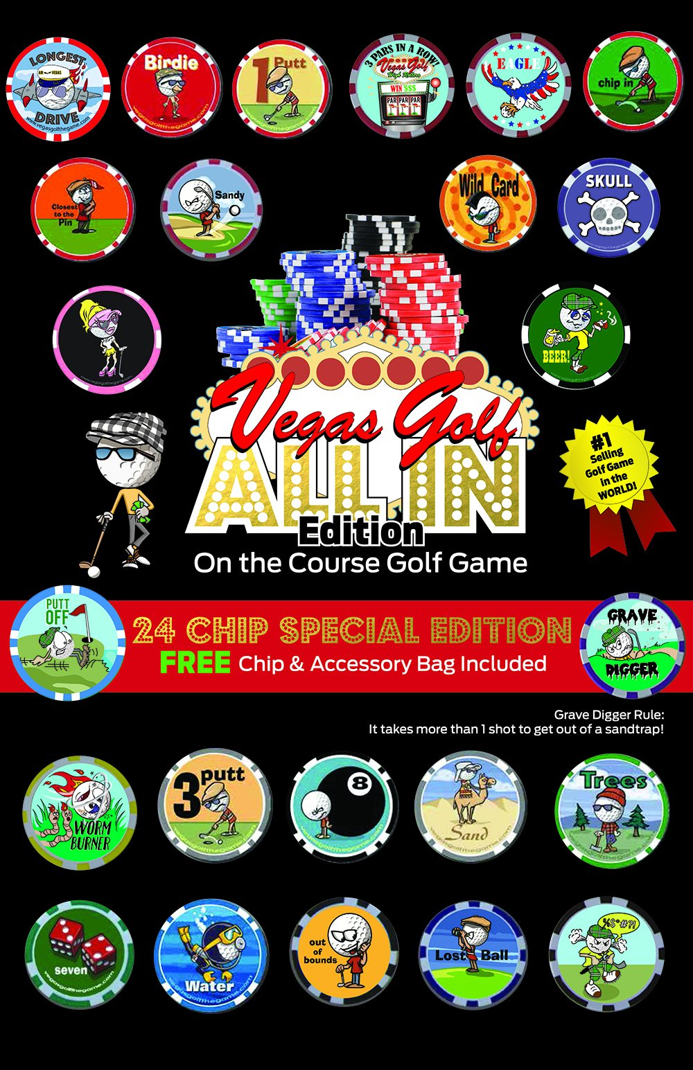 Vegas Golf ALL-IN Edition-FREE DELUXE TEE BAG Included