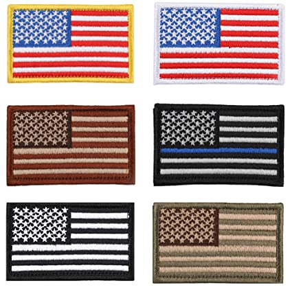 Amazon.com  Soleebee USA Flag Velcro Tactical Patches Bundle ... bb24293c1fb7