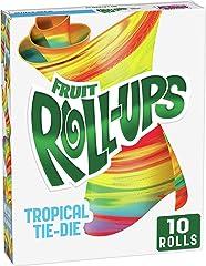 Betty Crocker Fruit Snacks, Fruit Roll-Ups, Tropical Tie-Die, 10 ct, 5 oz