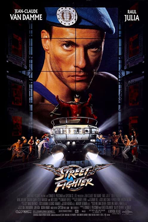 Amazon Com Street Fighter 1994 Retro Movie Poster 24x36 Jean Claude Van Damme Capcom Posters Prints