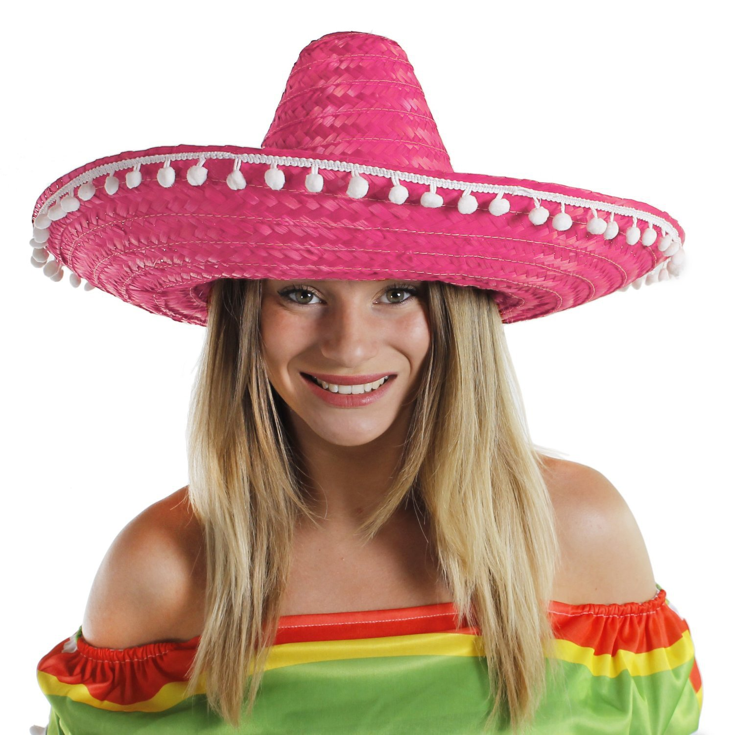 b828d45bc673 MEXICAN STRAW SOMBRERO HAT MENS OR LADIES IDEAL FANCY DRESS (BLACK)   Amazon.co.uk  Toys   Games