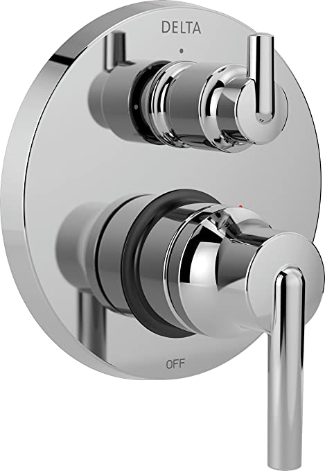 Delta Faucet T24859 Chrome Trinsic Contemporary Monitor 14 Series Valve Trim With 3 Setting Integrated Diverter Amazon Com