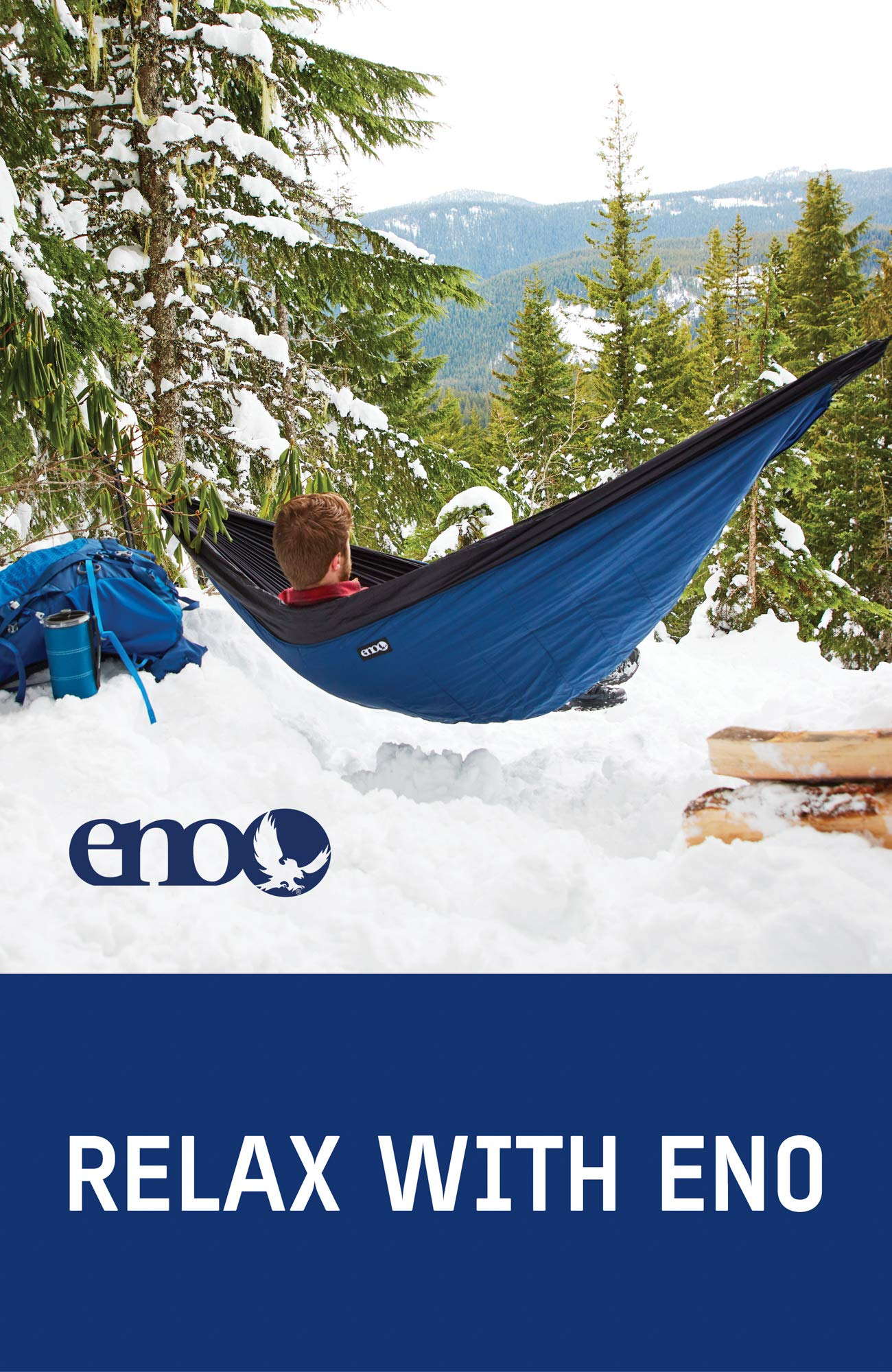 ENO - Eagles Nest Outfitters Ember Hammock UnderQuilt, Lightweight Sleeping Quilt for Cold Weather Camping, Charcoal/Red        by ENO