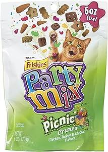 Purina Friskies Party Mix Cat Treats Picnic Crunch,6oz