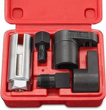 5 Piezas Offset Sensor De Oxígeno Socket Set /& Thread Chaser
