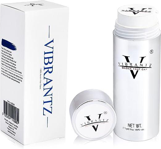 vibrantz pelo Fibras, 100% natural queratina engrosamiento Fibras voluminizadoras para pérdida de cabello tratamiento Corrector para hombres y mujeres ...