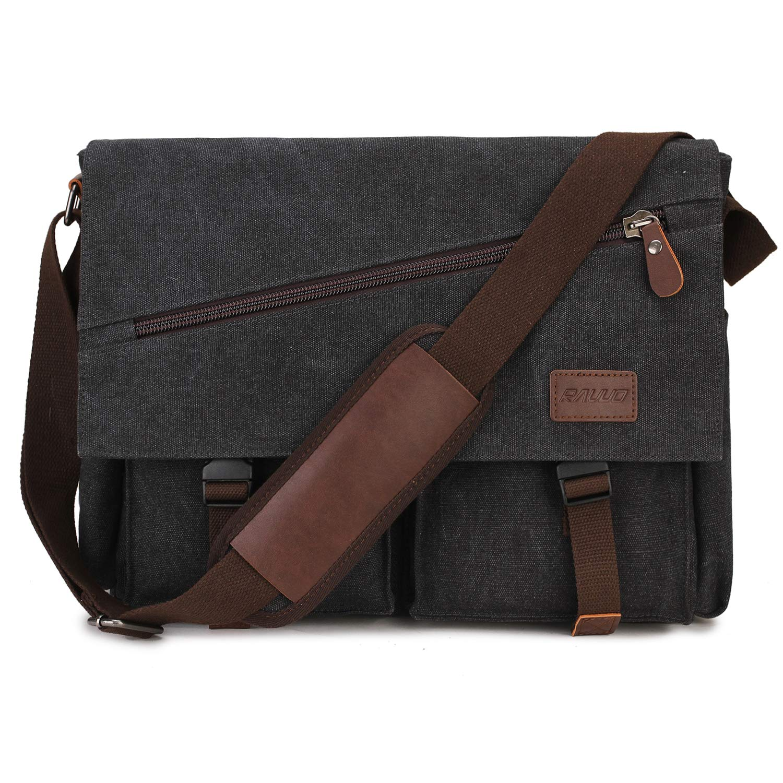 f05045474bf5 Messenger Bag for Men,Water Resistant Unisex Canvas Shoulder Bag ...