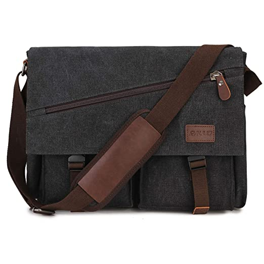 f3bee2f2fc07 Amazon.com: Messenger Bag For Men,Water Resistant Unisex Canvas ...
