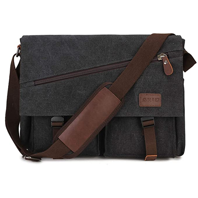 f3a6230b1e42 Amazon.com: Messenger Bag For Men,Water Resistant Unisex Canvas ...