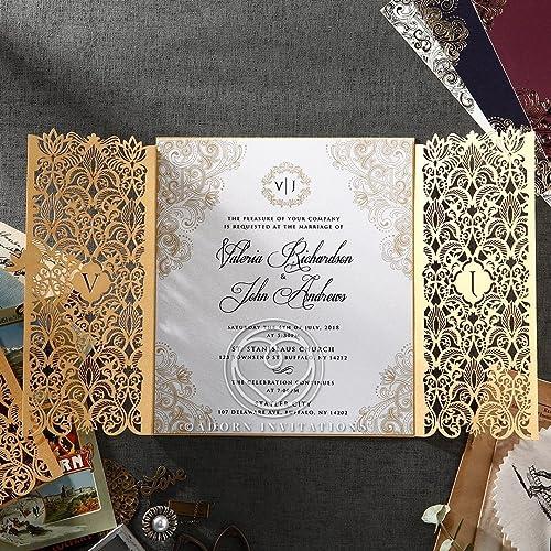 Amazon Com Wedding Invitations Imperial Glamour Pearl Perfect