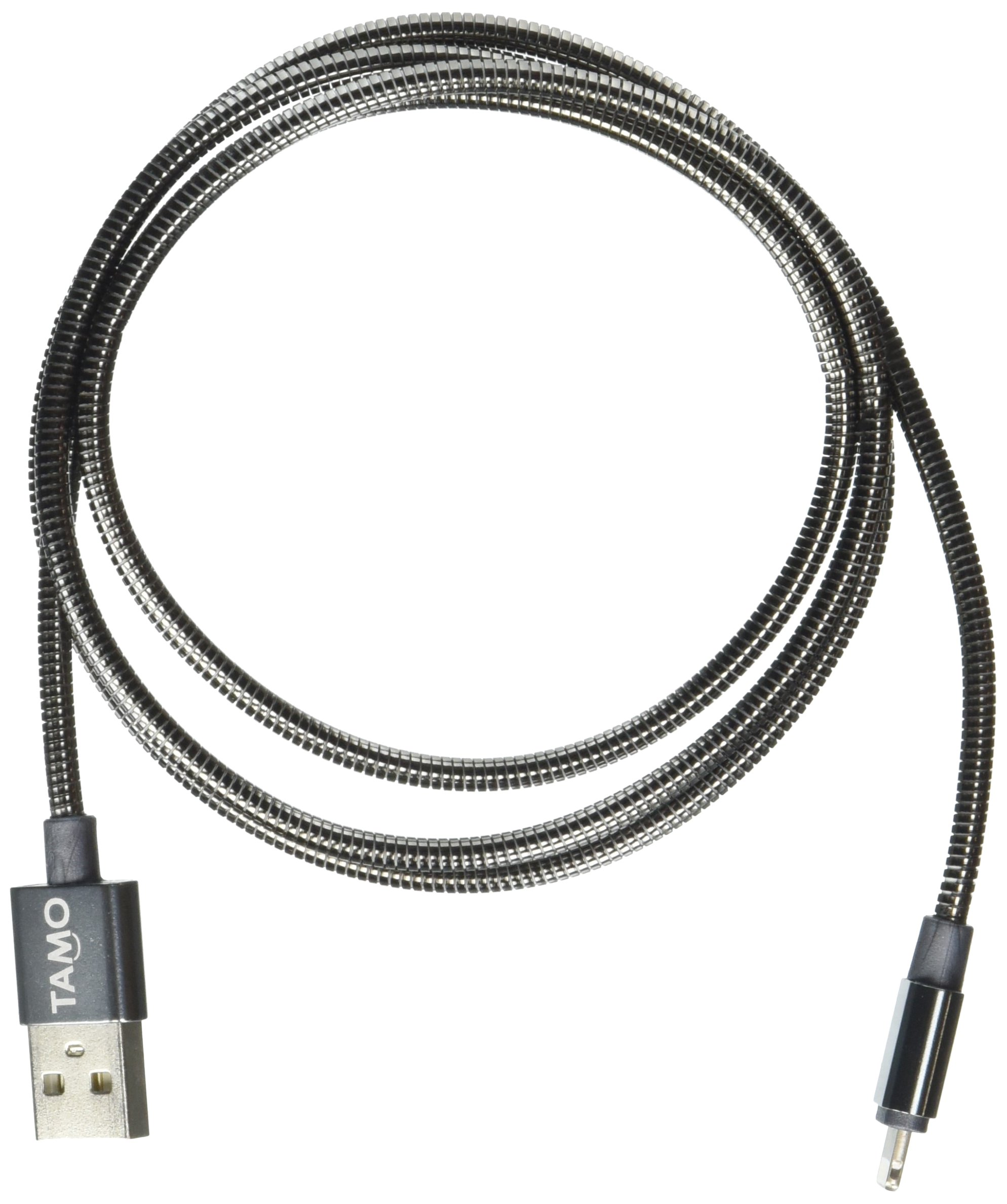 TAMO Forever Cables Steel Edition Executive Style MFI Certified Lightning Cable, 3-Feet, Black