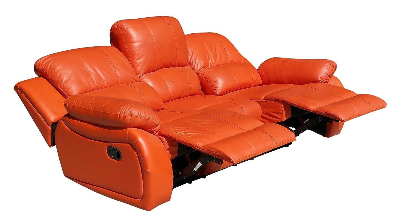 Voll-Leder Fernsehsofa Relaxsofa 3-Sitzer 5129-3-477