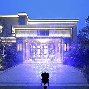 أضواء دي جي للحفلات، إضاءة ليلية سحرية دوارة LED ضوء مع إضاءة اللهب، عرض ضوء LED للديكور المنزلي في الهواء الطلق، منظر طبيعي لحديقة المنزل