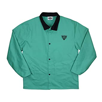 IRONCAT 7050 - Chaqueta de soldar de algodón resistente al fuego, L, verde,