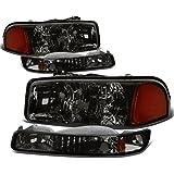 For GMC Sierra/Yukon GMT800 4Pcs Smoked Lens Amber Corner Headlight+Bumper Light