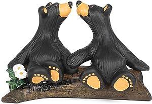 DEMDACO Kissin' Bears Black Bear 4 x 6 Hand-cast Resin Figurine Sculpture