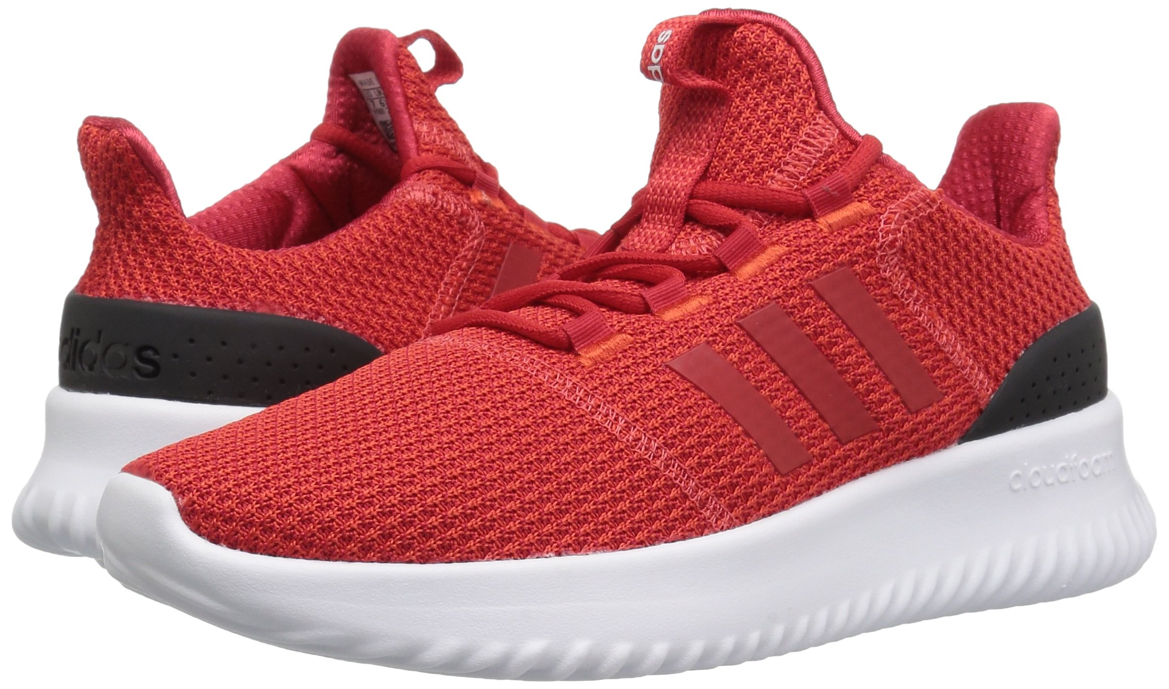 adidas Kids' Cloudfoam Ultimate Running Shoe, Red/Scarlet/Black, 1 M US Little Kid by adidas (Image #5)