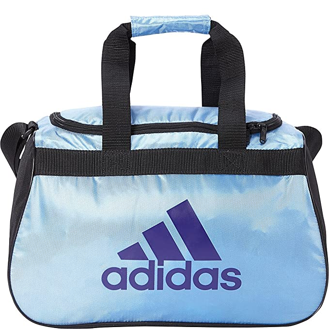 adidas Limited Edition Diablo Small Duffel Gym Bag in Bold Colors - (Col. Lt. Blue/Black/Col. Purple)