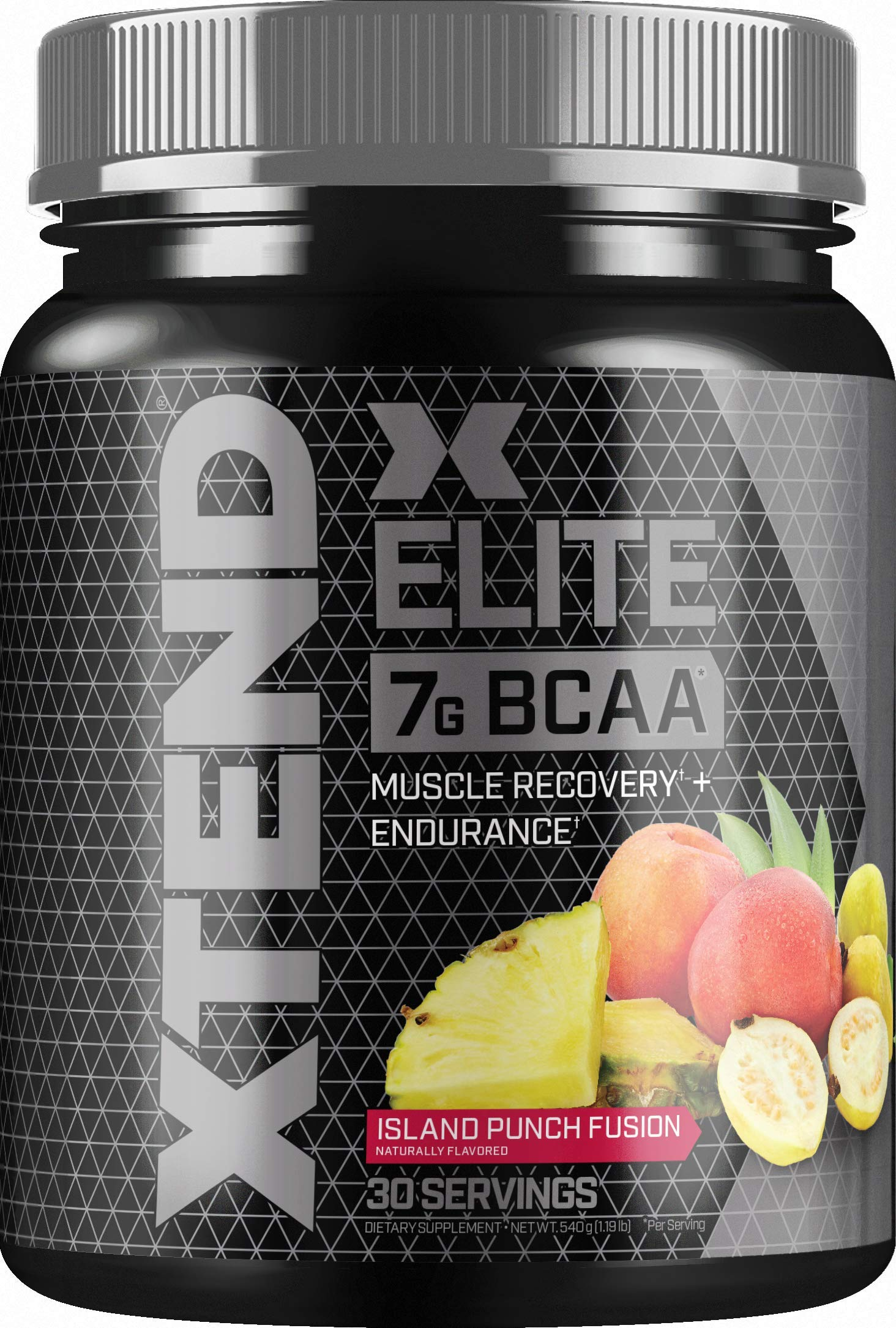 Scivation Xtend Elite BCAA Powder Branched Chain Amino Acids BCAAs Post Workout Recovery Drink with Beta Alanine & Glutamine, Island Punch Fusion, 30 Servings