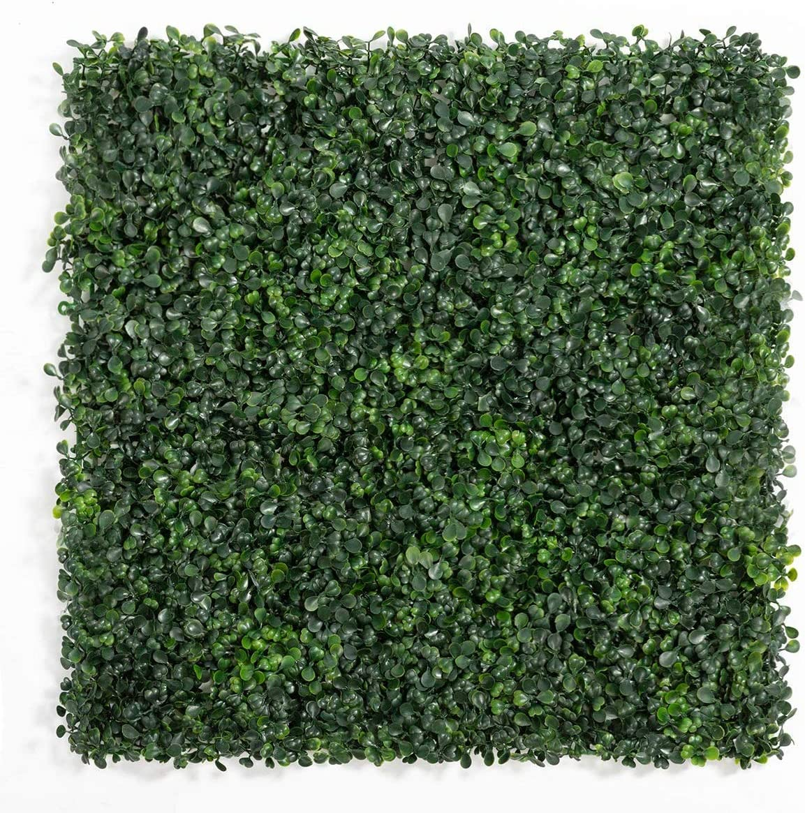 "DOEWORKS Artificial Boxwood Hedges Panels, 20"" x 20"" Faux Plant Ivy Fence Wall Cover, Outdoor Privacy Fence Screening Garden Decoration - 12 Pack"