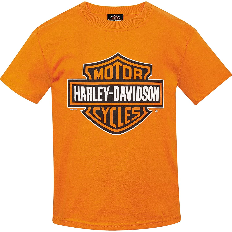 1e297ab53 Top2: Harley-Davidson Youth Bar & Shield Orange T-Shirt   Camp Humphreys