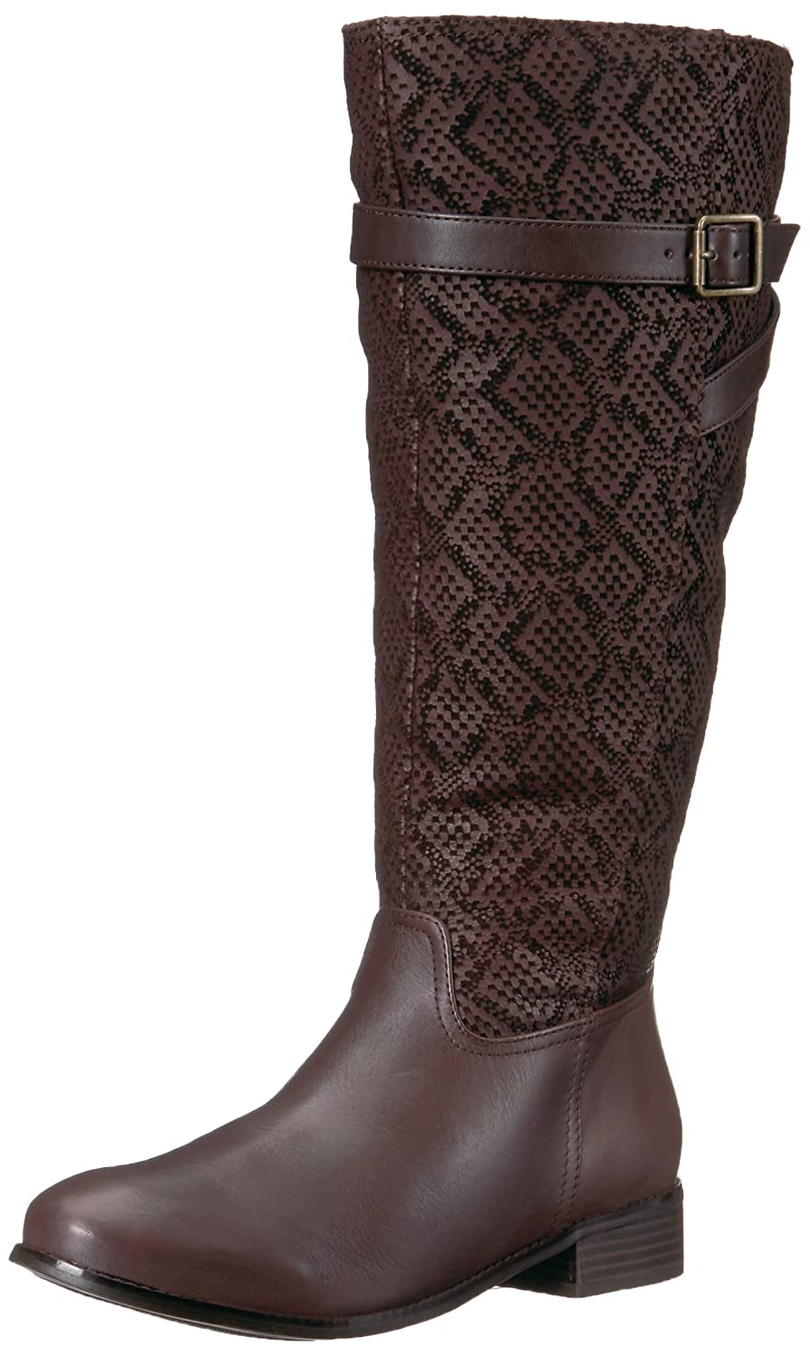 Trotters Women's Lyra Wide Calf Riding Boot B01N6JKJ0M 12 W US|Dark Brown