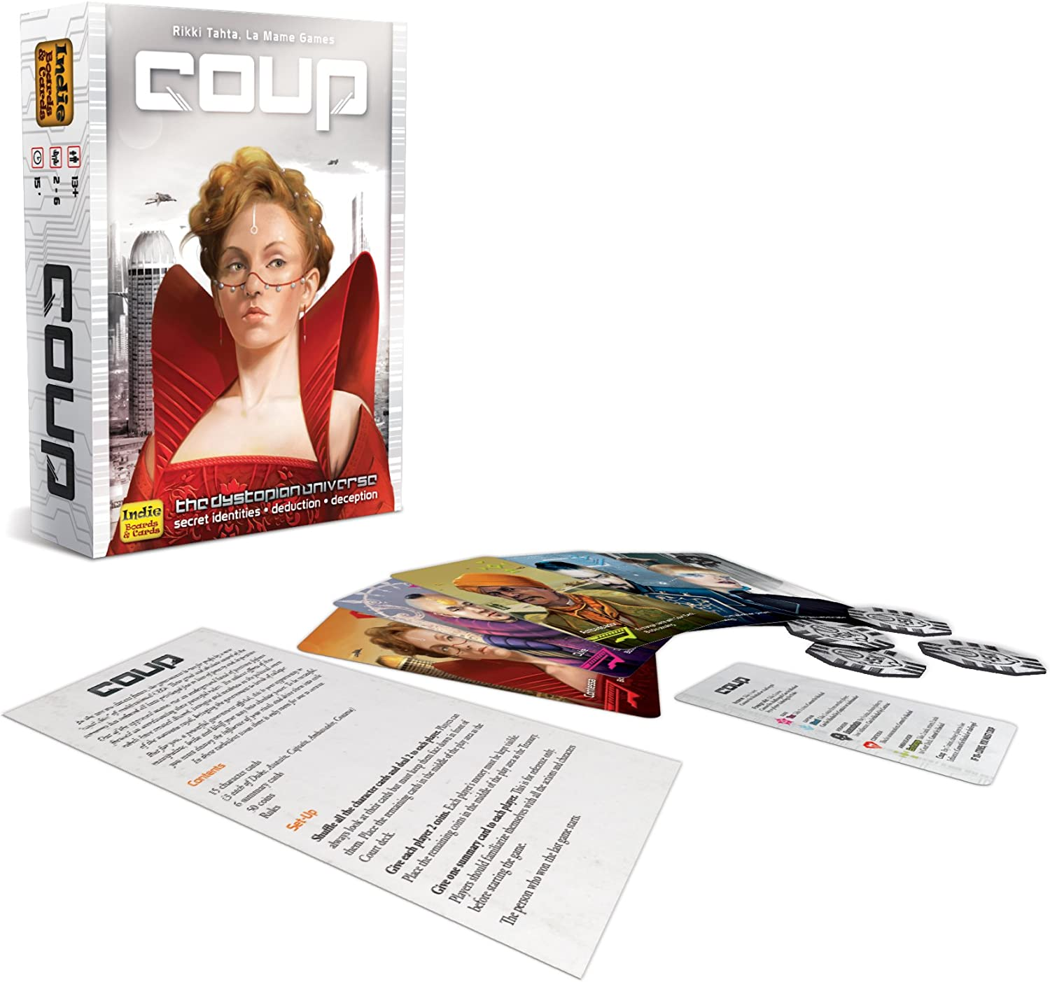 Coup Card Game Board Game English Version Party Poker Game Christmax Gift