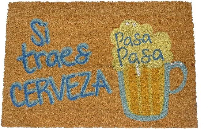 koko doormats Felpudo de Vino y Cerveza para Entrada de Casa Original y Divertido/Fibra Natural de Coco con Base de PVC, 40x60 cm (Pasa Pasa Cerveza): Amazon.es: Hogar
