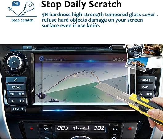 Lfotpp Nissan Navara Np300 7 Zoll Navigation Schutzfolie 9h Kratzfest Anti Fingerprint Panzerglas Displayschutzfolie Gps Navi