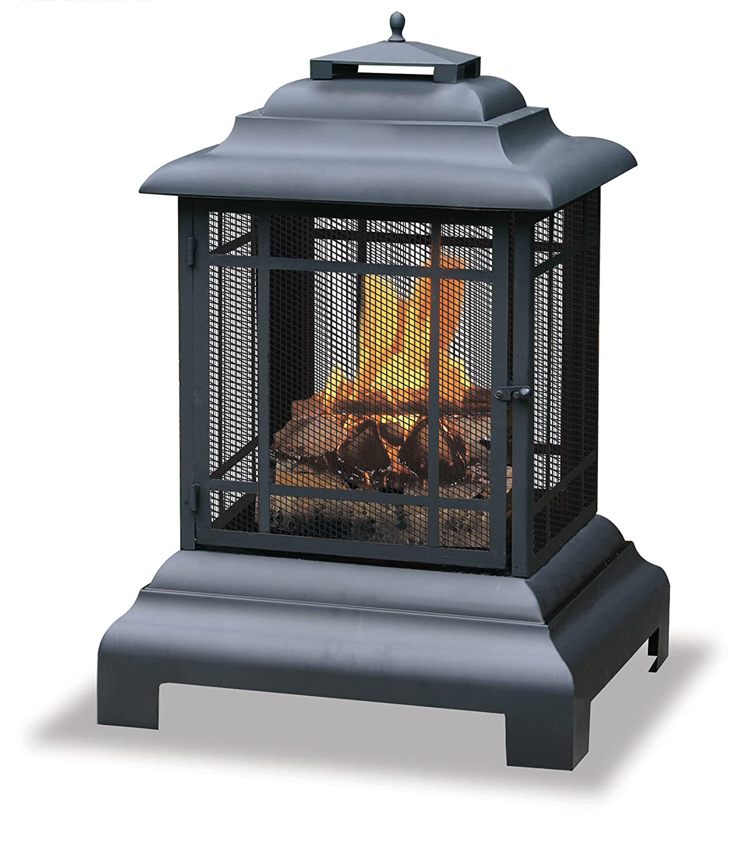 Blue Rhino WAF501CS Black Wood Burning Firehouse