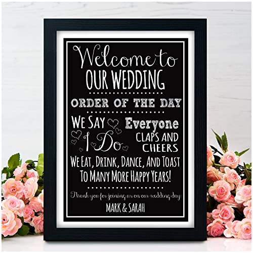 Welcome To Our Wedding Order Of The Day Wedding Signs For Wedding