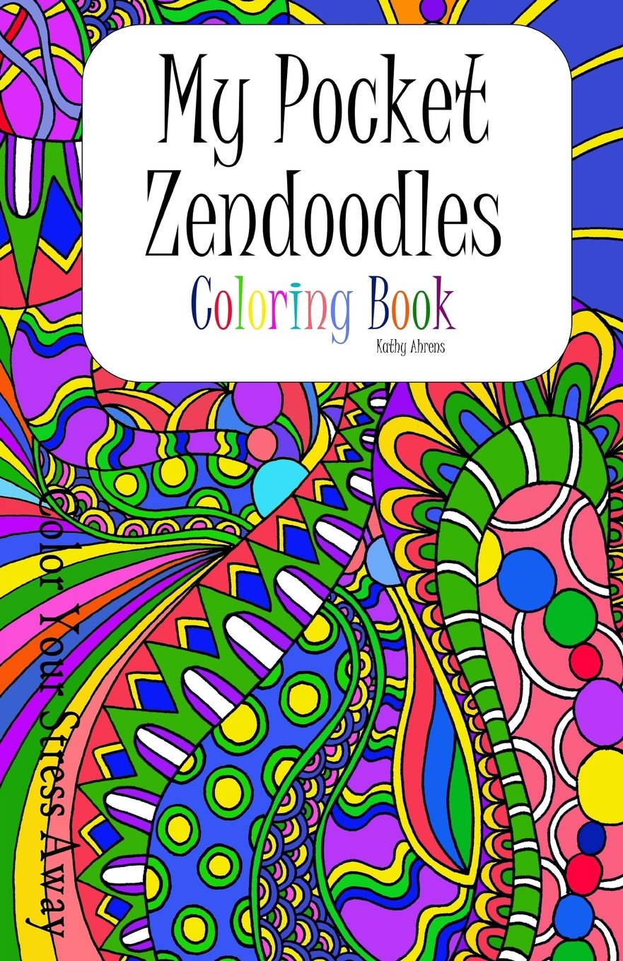 Amazon Com My Pocket Zendoodles Coloring Book Color Your Stress