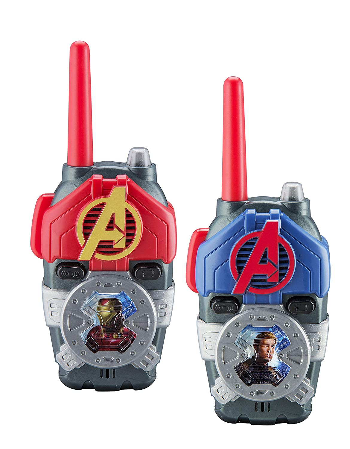 eKids Avengers Endgame FRS Walkie Talkies with Lights   Sounds Kid Friendly Easy to Use