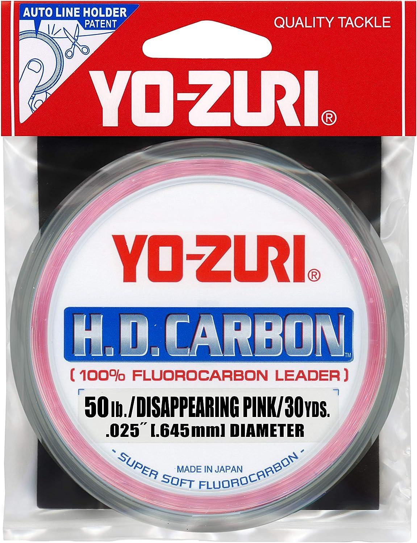 15-Pound Fluorocarbon Wrist Spool 100-Yard Leader Line Yo-Zuri H.D Pink