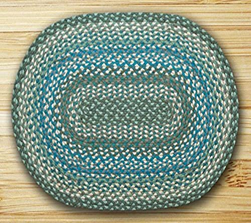 Earth Rugs Rug, 20 x 30 , Sage Ivory Settlers Blue