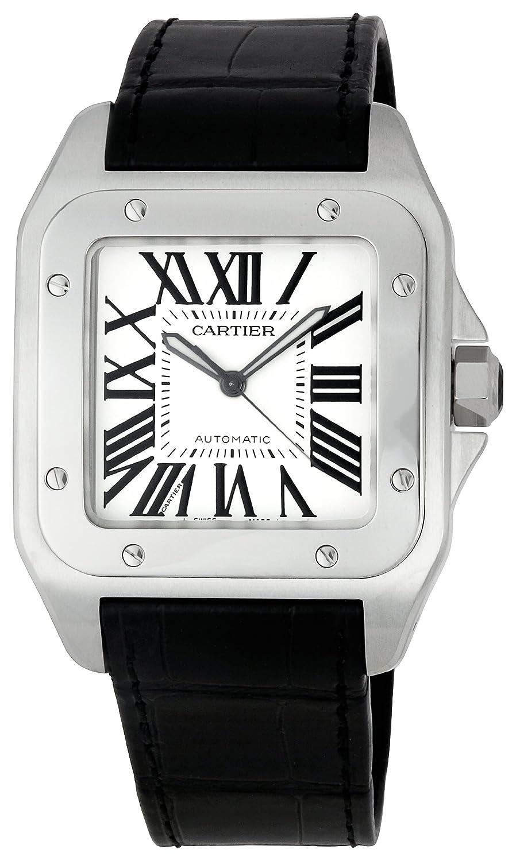 8980f754894b5 Amazon.com: Cartier Men's W20073X8 Santos 100 XL Automatic Watch ...