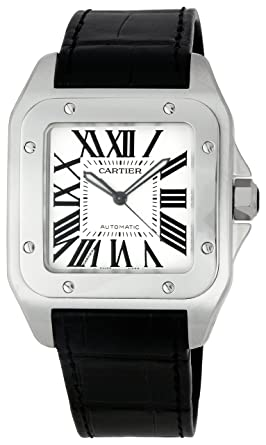 7572afcde5e9d Amazon.com: Cartier Men's W20073X8 Santos 100 XL Automatic Watch ...