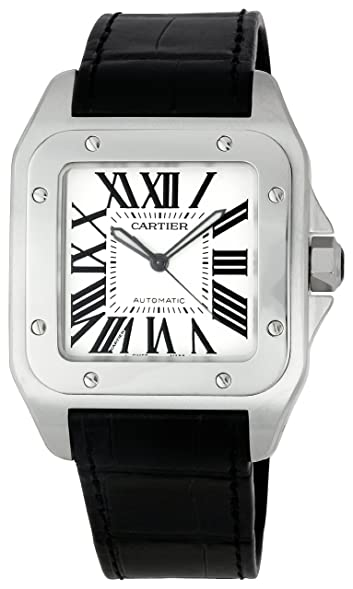 cartier menu0027s w20073x8 santos 100 xl automatic watch