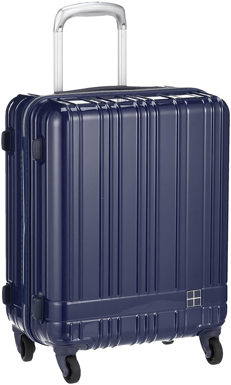 [ハンズプラス] スーツケース h+ライトスーツケース ジップネイビー 39L 51 cm 2.8kg 2430000383137 B0773LFB3P ネイビー