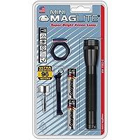 Maglite Mini Incandescent 2-Cell AA Flashlight Combo, Black