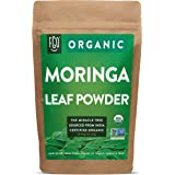 Organic Moringa Oleifera Leaf Powder   Perfect for Smoothies, Drinks, Tea & Recipes   100% Raw From India   8oz/226g Resealab