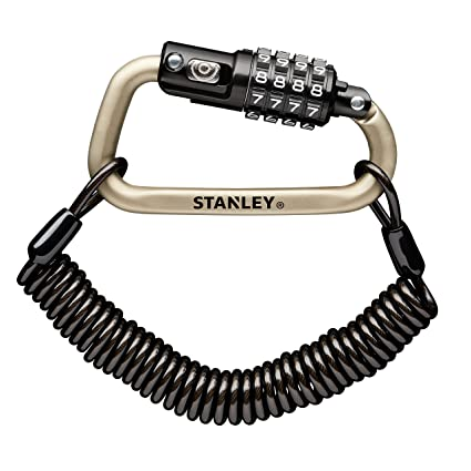 Stanley S744-031 Candado de Mosquetón, Plata